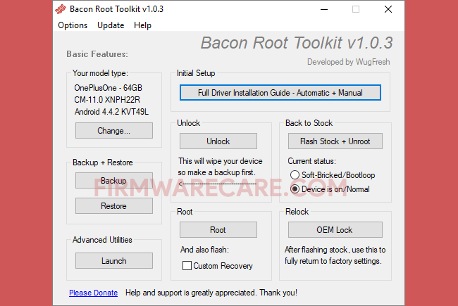 Bacon Root Toolkit v1 0 3 - Best Android Root Tool 2019