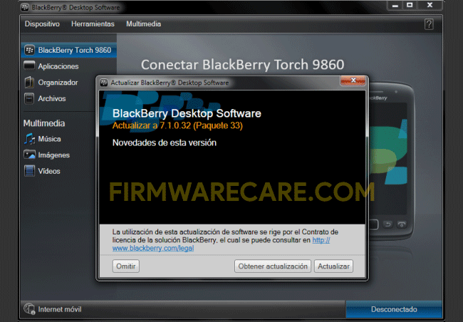Blackberry Desktop Software v7.1.0