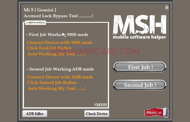 msh mi5 account lock bypass tool